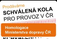 Prodáváme homologované zboží, schválená kola pro provoz v ČR