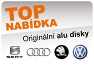 Originální aludisky VW + ŠKODA + SEAT + AUDI